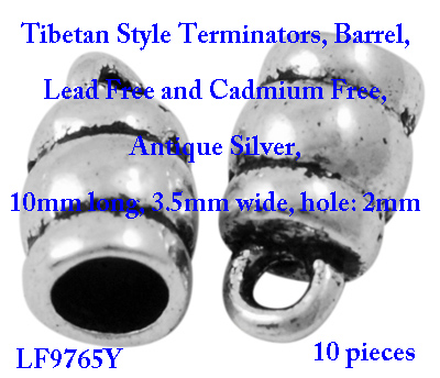 Tibetan style Terminator Antique Silver 10 pieces