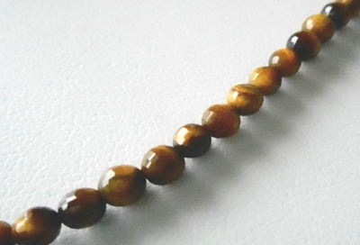 Tiger Eye - 4mm Faceted
