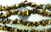 Tiger Eye polished Chip beads extra long wearable strand 32""