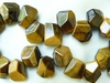 "Tiger Eye Chunky nugget Beads avg 9x13mm 16"" strands"