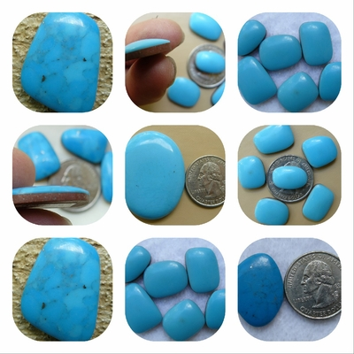 Tourquoise Cabochons Many shaes and sizes. Natural Torquoise