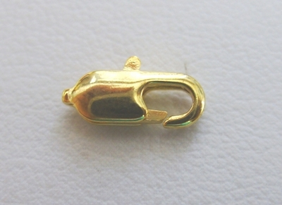 Trigger Clasp - 10mm - 10 Clasps - 24Kt. Gold Over Copper