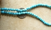 "Turquoise 4mm round beads 16"" strands Good color Stabelized"