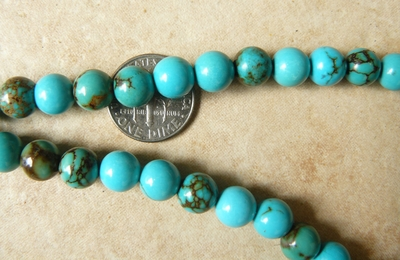 """Turquoise 8mm Round Beads 16"""" Strands"""