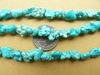 "Turquoise Magnasite Nugget Beads 16"" Strands"