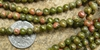 "Unakite Beads 4mm Round 16"" strands"