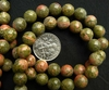 "Unakite - 8mm round Beads 16 "" strand"