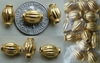 Vermeil Bead - 7x10mm - 14 beads - Gold over Sterling Silver Vermeil<br>GB13