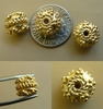 Combo Bead  Vermeil - 10x9mm - 4 beads Gold over Sterling Silver