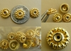 Vermeil Bead Cap - 4x10mm 11 pieces Gold over Sterling Silver