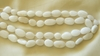 "White Agate beads Bean shaped 16"" strands"