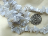 "White Agate Chip Polished Beads 34"" strands Read to wear"