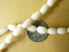 "White Coral limbs Rice beads 4x10mm 16"" strands"