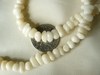 "White Coral Smooth Chip Beads 16"" strand"