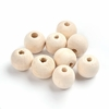 Wood Beads, 20 Pieces Lead Free, Round, Moccasin  Size- about 20mm in diameter, hole- 4mm.