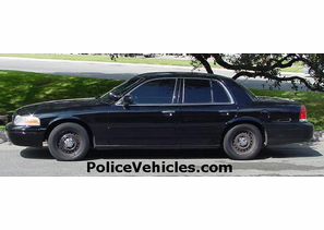 2000 Ford Police Interceptor Black