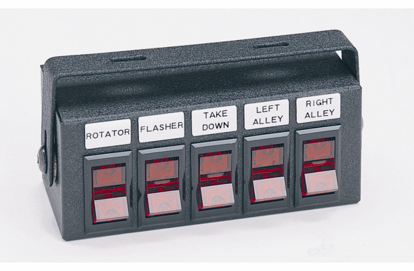 Able2 Sho-Me - Switch Box w/ Five Switches Back-Lighted Legends - 05.5300