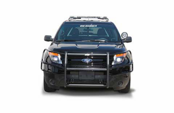 Go Rhino Heavy Duty Wrap Around Brush Guards Only (Pair) 2013-2015 Ford Police Interceptor Utility - 5034WHD