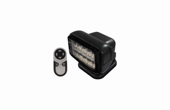 GoLight RadioRay LED Wireless Remote Searchlight - MAGNETIC - 79514 - Black