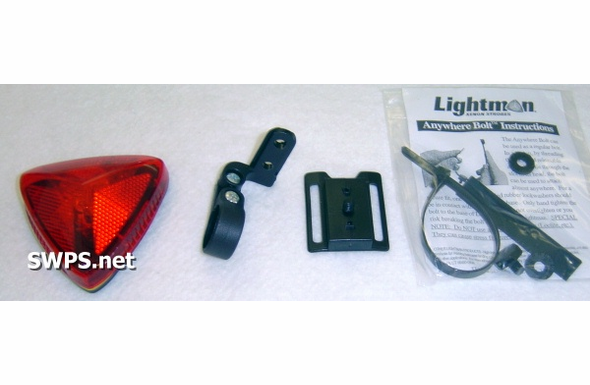 Lightman Basic Bike Strobe Kit Red 90200