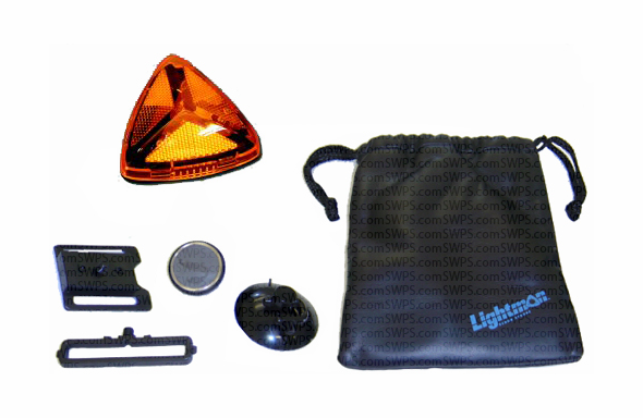 Lightman Wide-Angle LED Safety Kit - Amber 733300