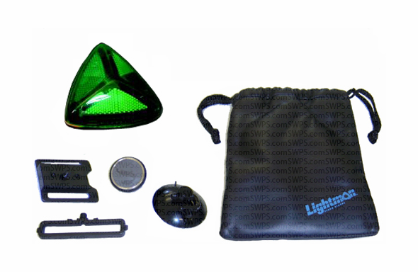 Lightman Wide-Angle LED Safety Kit - Green 74400