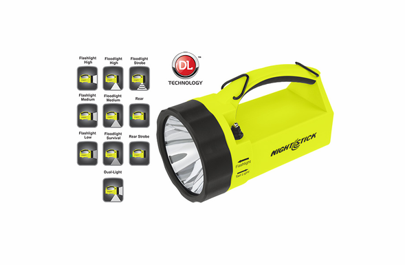 NightStick Safety Dual-Light LED Rechargeable Lantern - Green - XPR-5580G