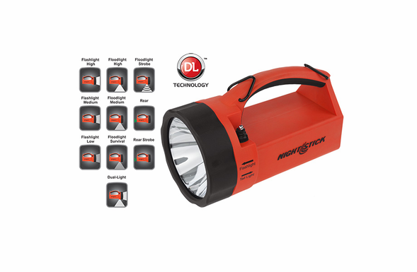 NightStick Safety Dual-Light LED Rechargeable Lantern - Red - XPR-5580R