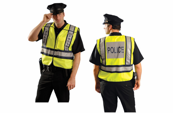 OccuNomix High Visibility Vest - POLICE - XL - LUX-PSP