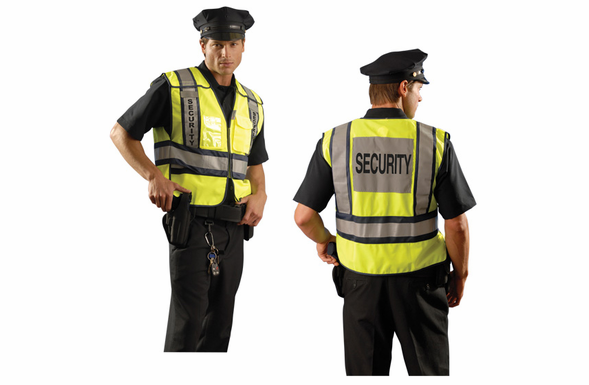 OccuNomix High Visibility Vest - SECURITY - XL - LUX-PSEC