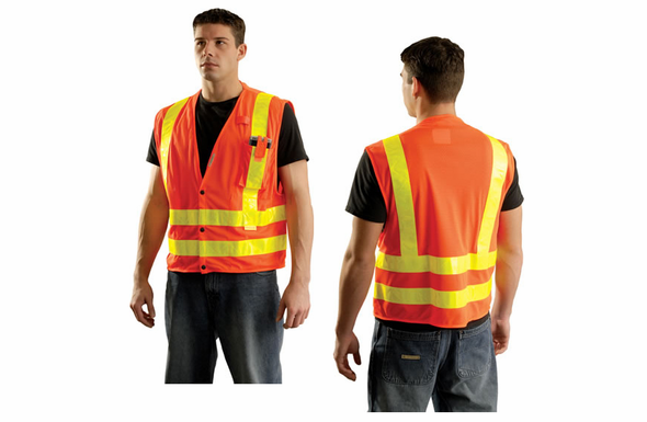 OccuNomix High Visibility Vest - XL - Orange - LUX-SSLDMS