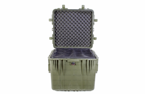 Pelican 0350 Case With Padded Dividers - OD Green