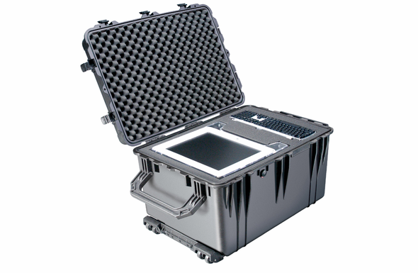 Pelican 1660 Case With Foam - BLACK