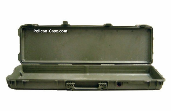 Pelican 1750 Case No Foam - Green