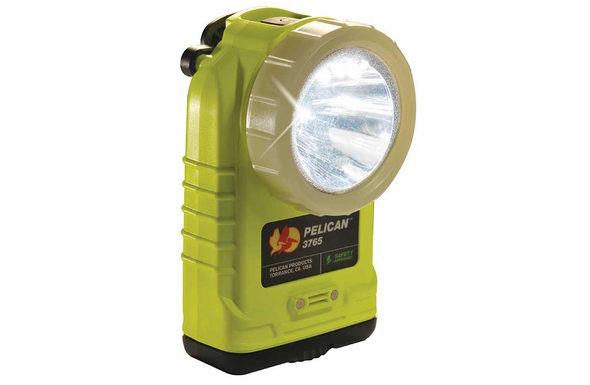 Pelican 3765PL Rechargeable LED Right Angle Flashlight - PL SHROUD - YELLOW