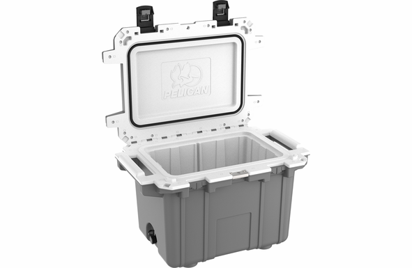 Pelican 50 Quart Cooler Dark Gray/White 50Q-DKGRYWHT