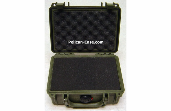 """Pelican 1150 Case With Foam - OD GREEN <font color=""""red"""">300 MOQ"""
