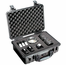 Pelican 1500 Case With Foam - BLACK