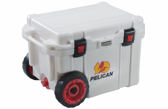 Pelican ProGear Cooler with Wheels - 45 Quart - White - 45QW-White