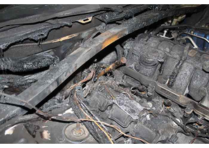 Pictures of Burned Dodge Charger Police Cruiser