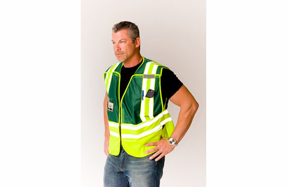 Safety Gear ANSI 207-2006 Public Safety Vest (CUSTOM) - 302-PSV-GRN-X