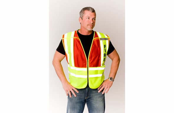 Safety Gear ANSI 207-2006 Public Safety Vest (FIRE) - 302-PSV-RED - M-XL