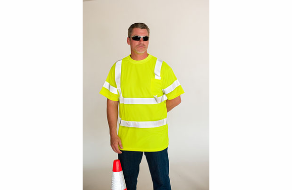SafetyGear Class 3 Crew Neck Short Sleeve Hi-Visibility T-Shirt - 313-CNTSE