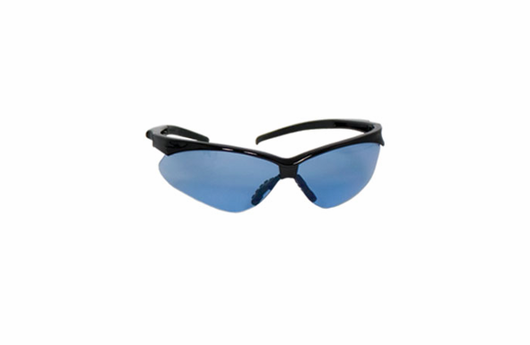 SafetyGear USA Safety Glasses - 250-28-0003 - 6-pack - Black Frame - Light Blue Lenses