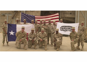 San Antonio Spurs Support from our Friends & Family in the US Military