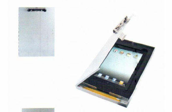Saunders Tuff Writer Clipboard for iPad 2 & 3 - Aluminum - Silver - 45450