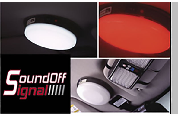 Sound Off LED Dual Red/White Dome Light - Universal - ECVDMLT00