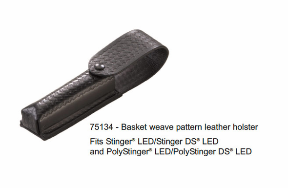 Streamlight Basketweave Leather Holster for Stinger LED/DS LED/PolyStinger LED/DS LED - 75134