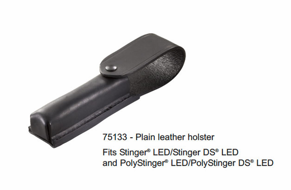Streamlight Plain Leather Holster for Stinger LED/DS LED - 75133