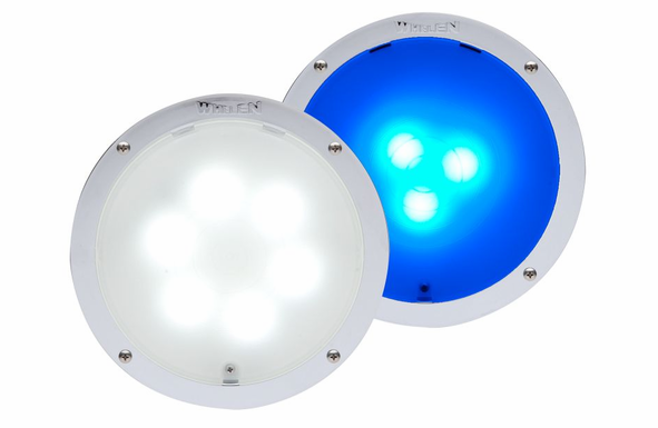 Whelen 9 Diode, Super-LED Interior Light 6 White 3 Blue 80CBEHCR